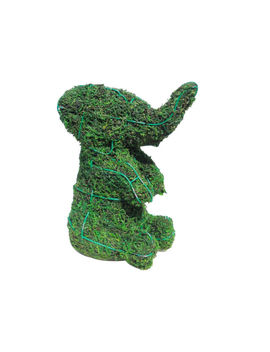 "Sk Moss Gift Express Elephant Sitting 8""H Animal Topiary Frame by Ebay Seller"