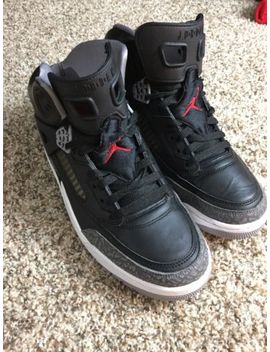 Nike Air Jordan Spizike Black Cement Grey White Red 315371 034 Size 10.5 Men by Nike