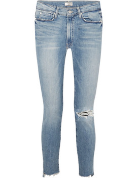 The Stunner Distressed High Rise Stretch Skinny Jeans by Mother