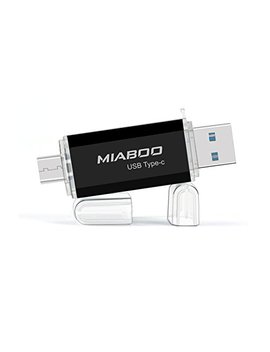Miaboo Usb 3.0 Type C Flash Drive Interface Dual Drive Memory Storage 16 Gb U Disk For Phone, Tablet Or New Mac Book (Black16 Gb) by Miaboo