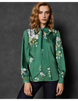 Graceful Tie Neck Top by Ted Baker