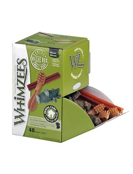 Whimzees Natural Dog Treat, Variety Box, Small, 48 Pieces by Whimzees