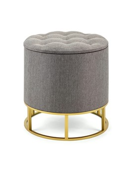 Piper Grey Ottoman by Generic