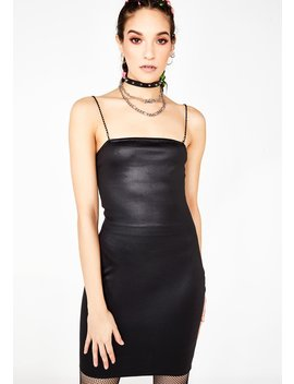 Pu Bodycon Bling Dress by New Girl Order
