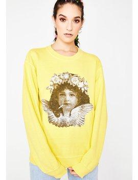 Smoking Cherub Print Sweater by New Girl Order