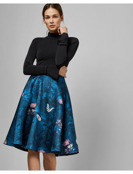 Wonderland Knitted Bodice Dress by Ted Baker