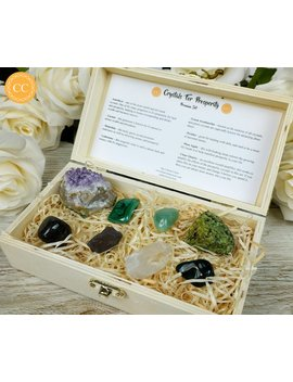 Crystals For Prosperity Premium Set | Crystal Gift Set by Etsy