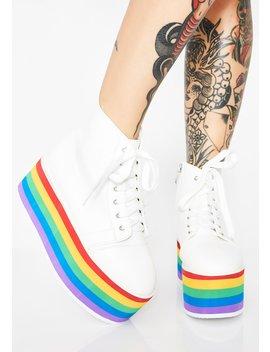 Rainbow Rebellion Platform Sneakers by Nyla