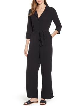 Tie & Button Front Jumpsuit by Bobeau