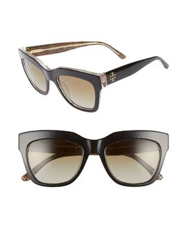 53mm Gradient Square Sunglasses by Tory Burch