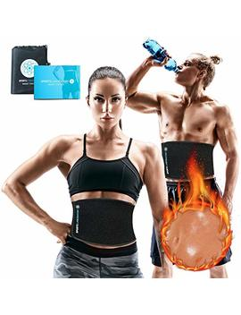 Sports Laboratory ® Waist Trimmer Belt Pro+ | Men & Women For Weight Loss & Body Slimming | One Size Adjustable With Free Bag & Guide by Sports Laboratory