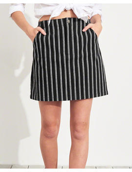 stretch-ultra-high-rise-stripe-skirt by hollister