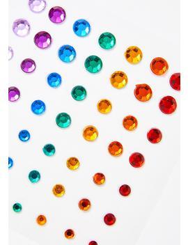 Rainbow Face Gems by Karizma Beauty