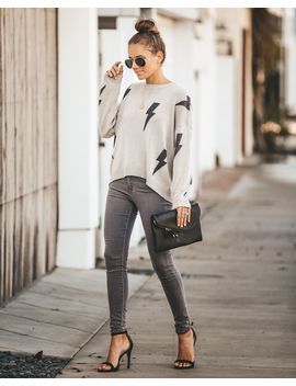 Lightning + The Thunder Knit Sweater by Vici