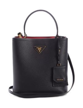 Small Saffiano Leather Bucket Bag by Prada