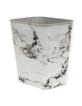 7 Gallon Plastic Rectangular Trash Can In Black Marble by Bed Bath And Beyond