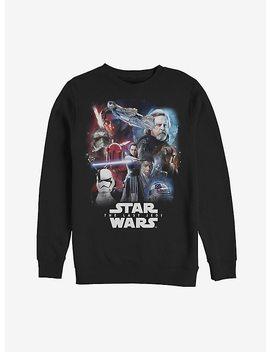 Star Wars: The Last Jedi Character Black Sweatshirt by Hot Topic