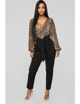 Knot Your Girl Knit Crepe Pants   Black by Fashion Nova