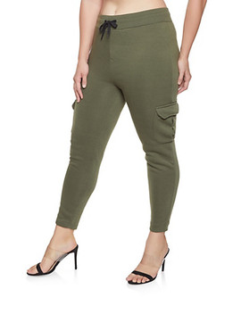 Plus Size Cargo Sweatpants by Rainbow
