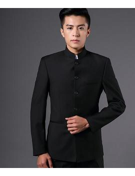 Mens Single Breasted Suit Mao Oriental Style Tunic Jacket Blazer Slim Coat I182 by Ebay Seller