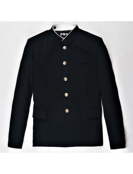 Men Single Breasted Mandarin Collar Jacket Blazer School Uniform Coat Tunic Tops by Ebay Seller