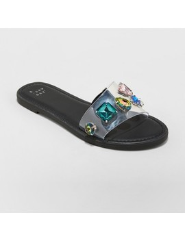 Women's Alana Gem Slide Sandals   A New Day™ by A New Day