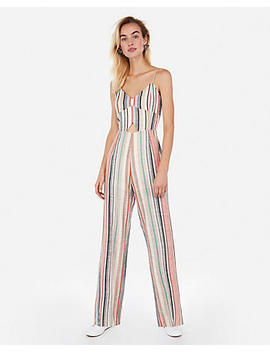Striped Cut Out Jumpsuit by Express