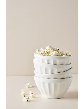 Matte Latte Bowls, Set Of 4 by Anthropologie