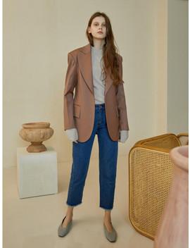 Wide Lapel Single Jacket by Maison Marais