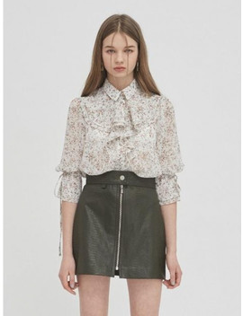 Floral Frill Blouse   White by Gabriel Lee