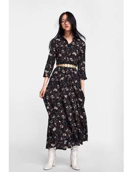 Floral Print Shirt Dress  View All Dresses Woman Sale by Zara