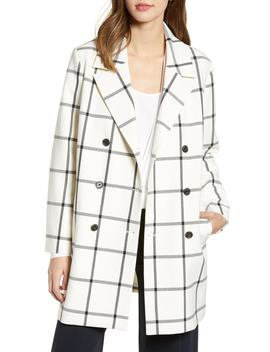 Oversize Check Topper Coat by Cupcakes And Cashmere