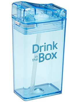 Drink In The Box Eco Friendly Reusable Drink And Juice Box Container By Precidio Design, 8oz (Blue) by Precidio Design