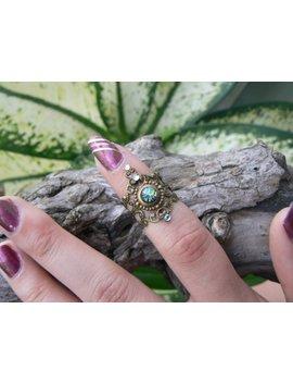 Fire Opal Midi Ring Armor Ring  Elfin Cosplay Claw Ring Emerald Sea Green Fire Opal Festival Goth Victorian Moon Goddess Pagan Boho Gypsy by Etsy