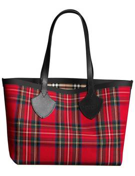 Reversible Vintage Check Tote Bag by Burberry