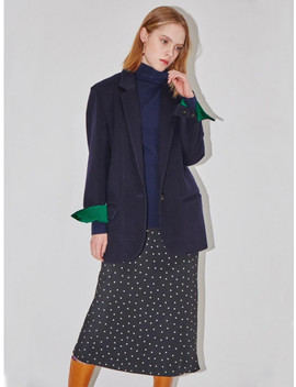 Paris Single Button Blazer Deep Navy And Fresh Gre by And You