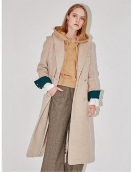 Dublin Double Breasted Coat Light Oatmeal And Viri by And You