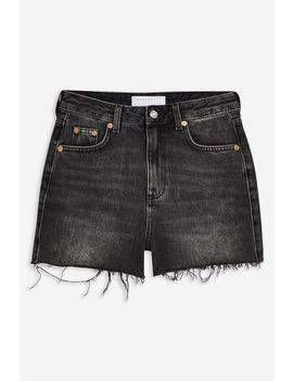 Black Denim Shorts by Topshop
