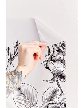 Mc Kenna Etched Floral Removable Wallpaper by Urban Outfitters