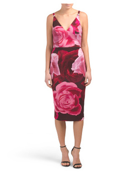 Made In Usa Floral Print Strappy Midi Dress by Tj Maxx