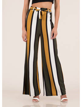Oh Wide Not Striped Palazzo Pants by Go Jane