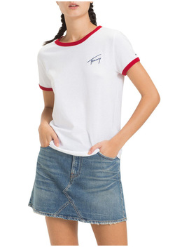 Tommy Jeans Women's Signature Ringer Tee by Tommy Jeans