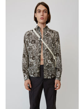Classic Fit Shirt Dark Brown/White by Acne Studios