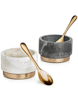 Modern Marble Condiment Bowls, Set Of 2, Created For Macy's by Hotel Collection