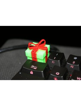 Keycap Cherry Mx   Christmas Holiday Present 3 D Printed Hand Painted Artisan Keycap Fits Cherry Mx Keyboards by Etsy