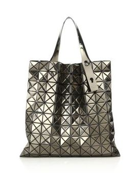 Platinum Metallic Faux Leather Tote by Bao Bao Issey Miyake