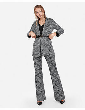 Jacquard Flare Pant Suit by Express