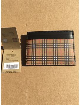 Burberry Men's Card Case Wallet   Classic Check   Black   Brand New by Burberry