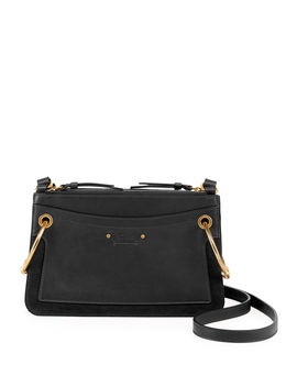 Roy Mini Leather/Suede Double Zip Shoulder Bag by Chloe