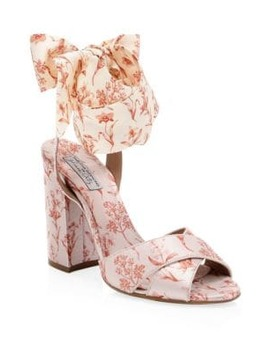 Tabitha Simmons X Johanna Ortiz Connie Wrap Satin Sandals by Tabitha Simmons